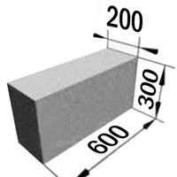 Пеноблок 600*300*200